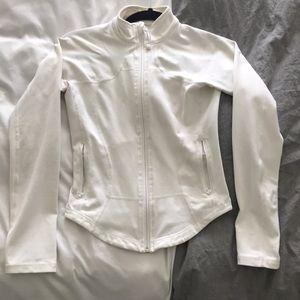 Lululemon white zip up jacket size 4